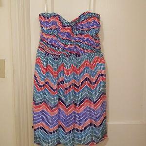 Shoshanna multi-colored party dress